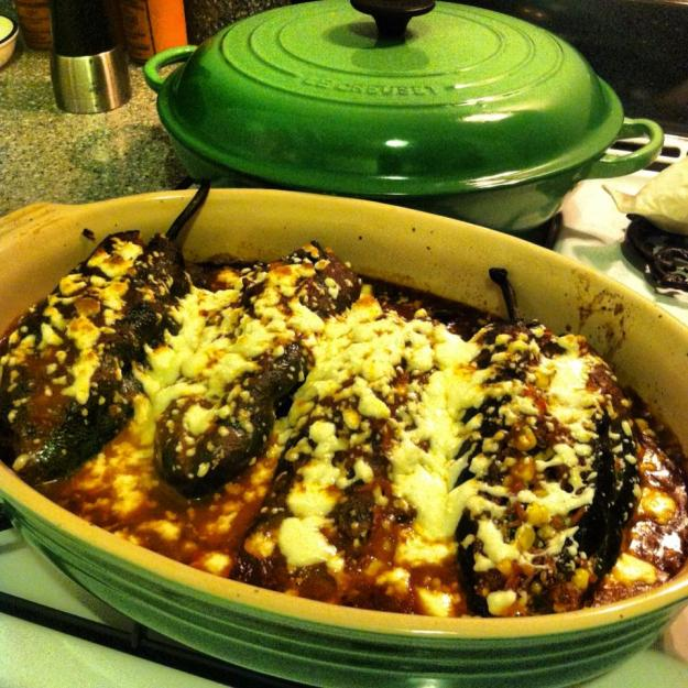 Shortrib Stuffed Poblano Peppers