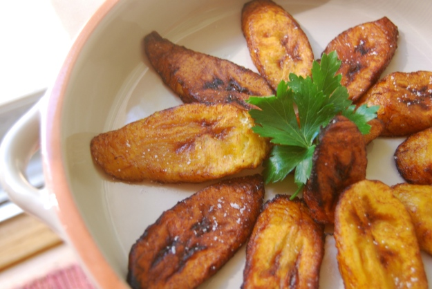 Delish fried plantains ready to be devoured