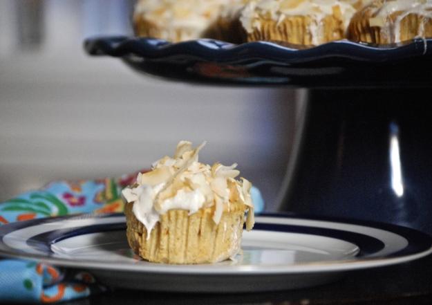 Caramelized Papaya and Toasted Coconut Cupcakes