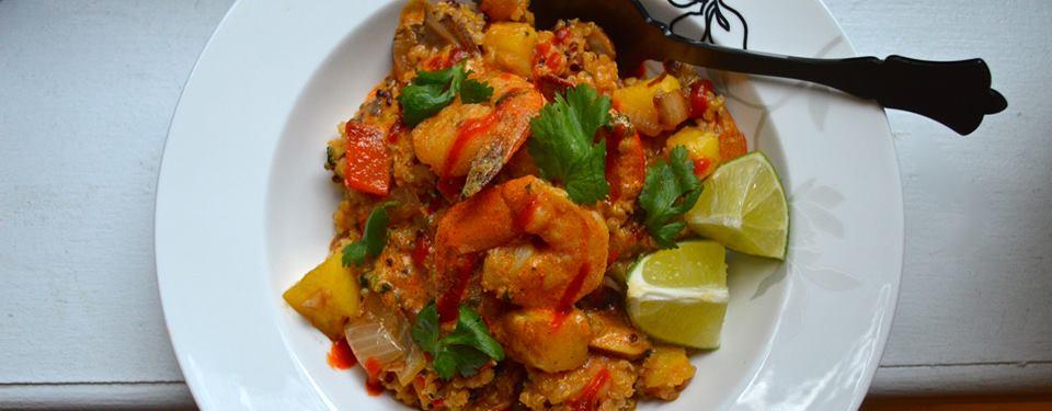 Pineapple And Shrimp Fried Quinoa Recipe — Dishmaps