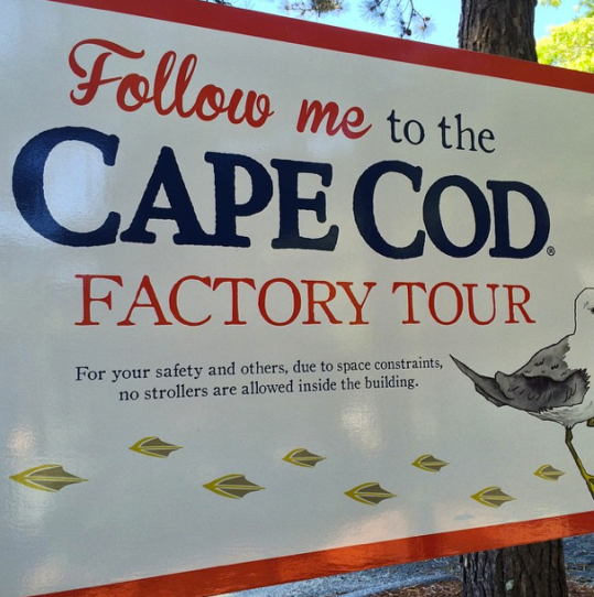 We took a tour of the Cape Cod chip factory