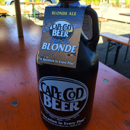 This delicious blonde ale was picked up at the Cape Cod Beer factory
