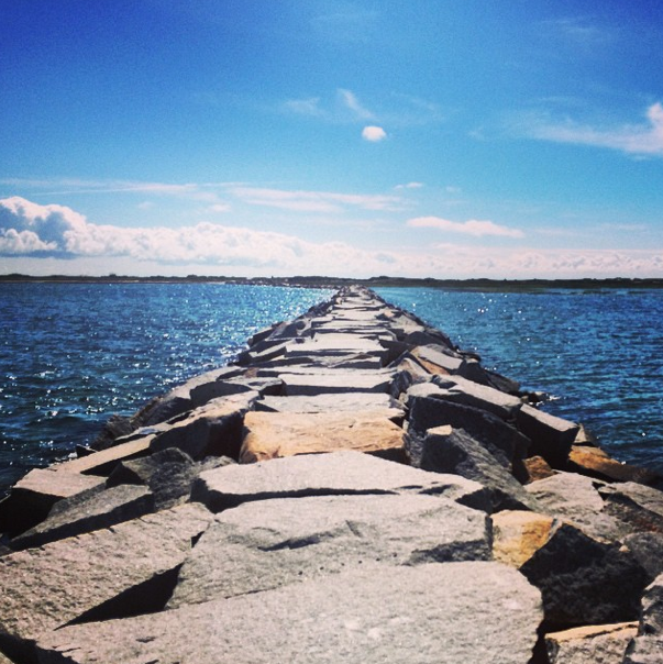 Walking the jetty in Cape Cod